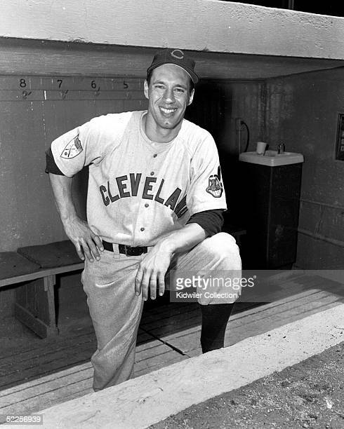 BRONX NY 1950's Pitcher Bob Feller of the Cleveland Indians poses for a circa 1950's portrait at Yankee Stadium in the Bronx New York The winningest...