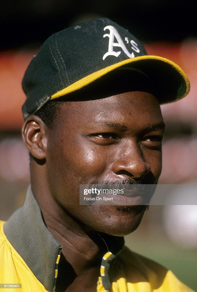 CIRCA 1980's Pitcher Dave Stewart of the Oakland Athletics before a circa late 1980's Major League Baseball game Stewart played for the Athletics...
