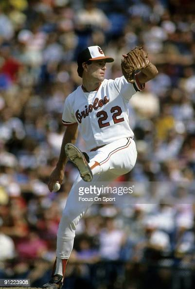 BALTIMORE MD CIRCA 1970's Pitcher Jim Palmer of the Baltimore Orioles pitches during circa early 1970's Major League Baseball game at Memorial...