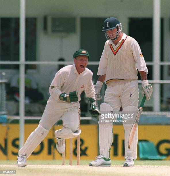 DAY's PLAY IN THE FIRST TEST MATCH AT THE GABBA IN BRISBANE AUSTRALIA AUSTRALIA WON THE TEST MATCH BY 184 RUNS WITH BOWLER SHANE WARNE TAKING EIGHT...