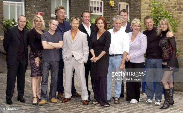 80's pop stars from left to right Midge Ure Kim Wilde Nik Kershaw Richard Darbyshire Limahl Marcus Vere Belinda Carlise Bobby Gee Anthony Critchlow...