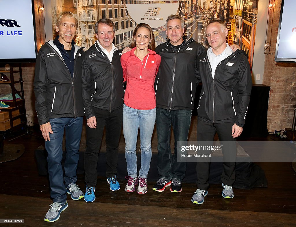 New Balance And New York Road Runners Announce Alliance During Press Conference At New Balance Experience Store