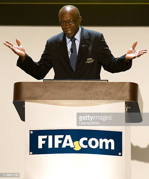 FIFA's president of the organizing committee Jack Warner talks during the draw of the FIFA U20 World Cup Colombia 2011 in Cartagena on April 27 2011...