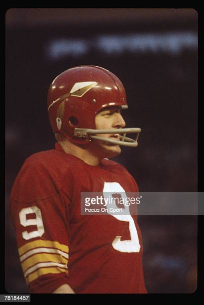 CIRCA 1960's Quarterback Sunny Jurgenson of the Washington Redskins on the sidelines during a late circa 1960's NFL game at RFK Stadium in Washington...