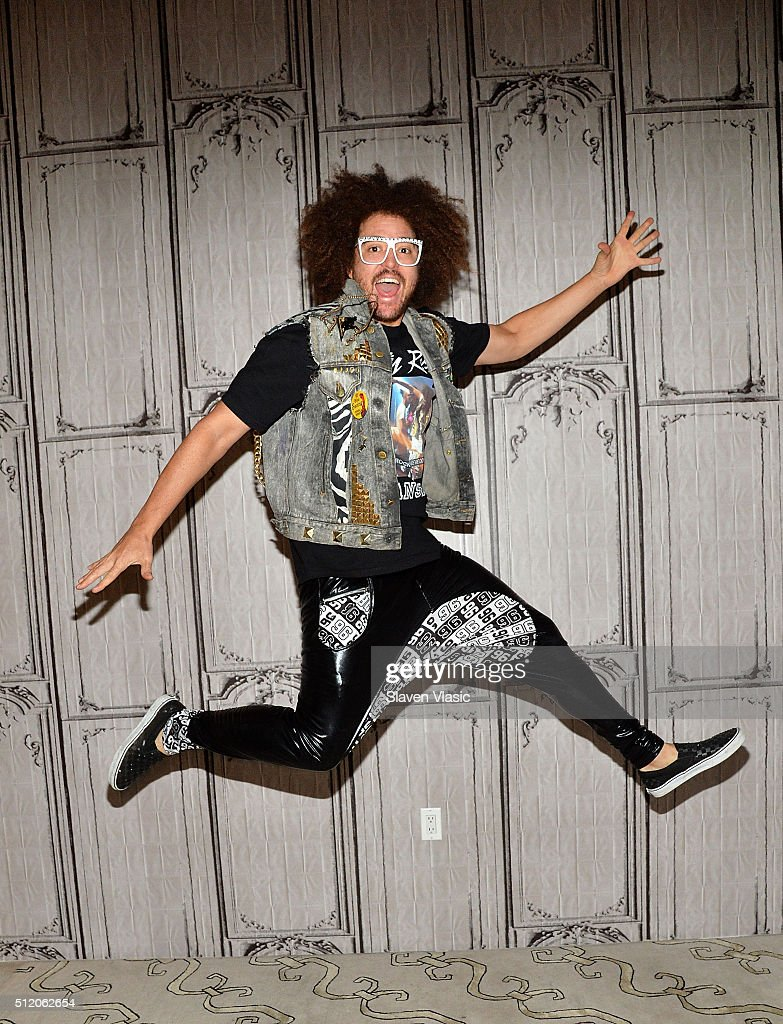 LMFAO's Redfoo visits AOL Build Speakers Series to discuss his debut solo album 'Party Rock Mansion' at AOL Studios In New York on February 24 2016...