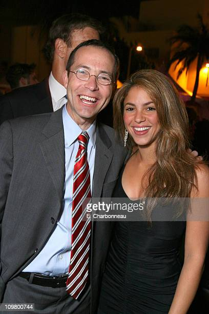 CAA's Richard Lovett and Shakira during Warner Bros Pictures Village Roadshow Pictures Jerry Weintraub and Section 8 Productions Host the North...