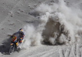 KTM's rider Cyril Despres of France competes during Stage 5 of the Dakar 2013 between Arequipa and Arica Chile on January 9 2013 The rally will take...