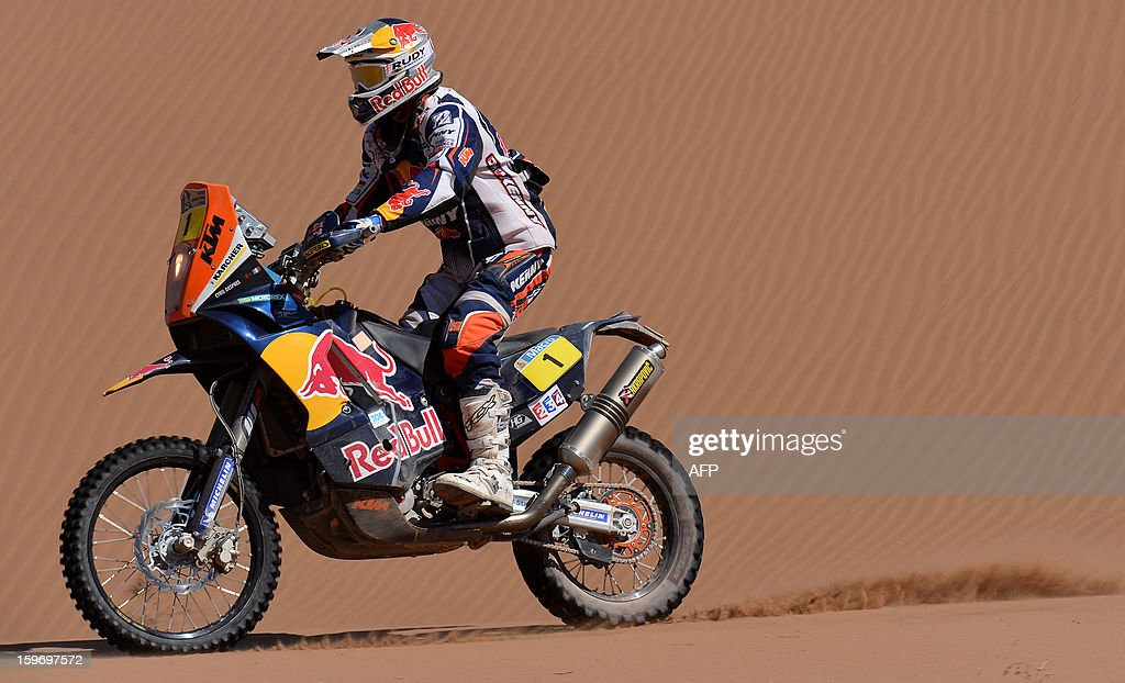 KTM's rider Cyril Despres of France competes in the Stage 13 of the 2013 Dakar Rally between Copiapo and La Serena, in Chile, on January 18, 2013. The rally is taking place in Peru, Argentina and Chile from January 5 to 20.