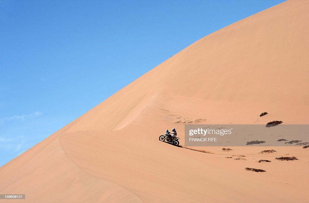KTM's rider Francisco Chaleco Lopez of Chile competes during the Stage 12 of the Dakar 2013 between Fiambala, Argentina and Copiapo, Chile, on January 17, 2013. The rally takes place in Peru, Argentina and Chile between January 5 and 20.