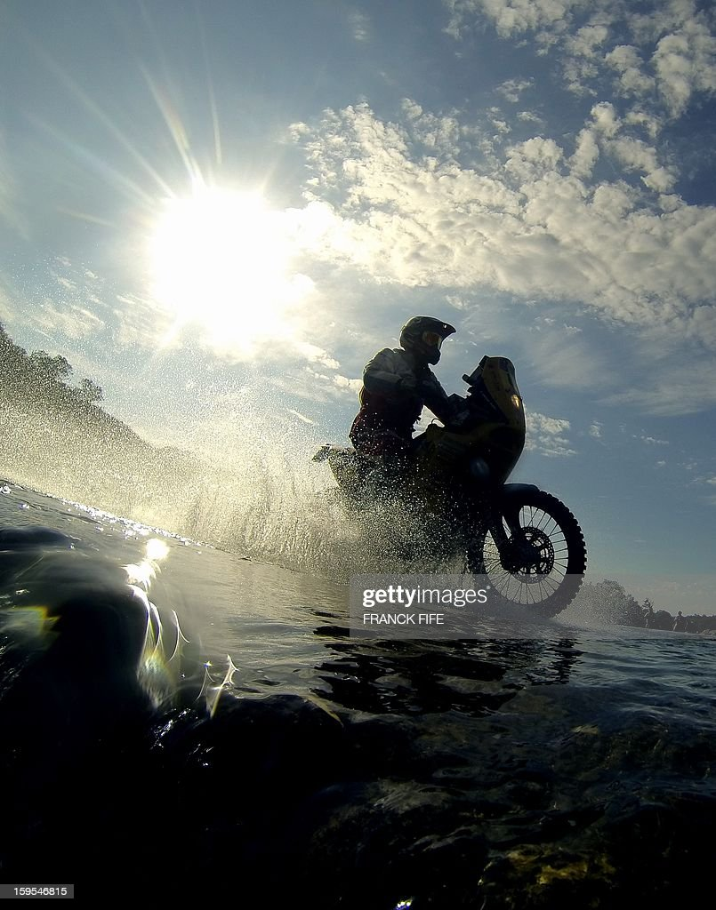 KTM's rider Stefan Svitko of Slovakia competes during the Stage 10 of the Dakar 2013 between Cordoba and La Rioja, Argentina, on January 15, 2013. The rally takes place in Peru, Argentina and Chile between January 5 and 20.