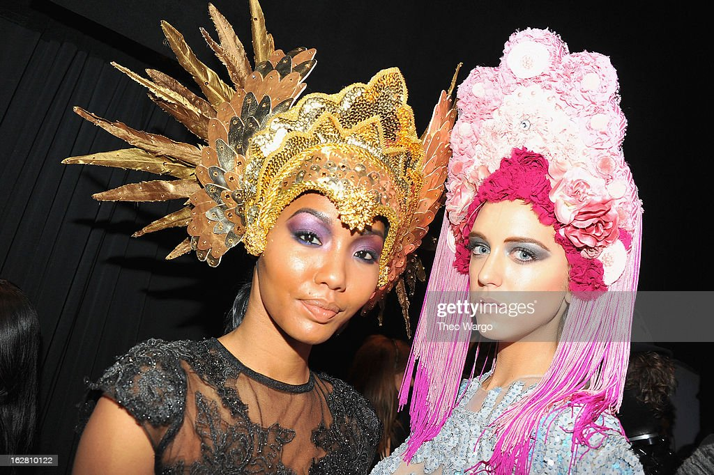 BET's Rip The Runway 2013:Backstage Hammerstein Ballroom on February 27, 2013 in New York City.
