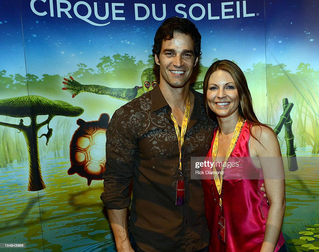 CNN's Rob Marciano and Eryn Marciano attend Cirque du Soleil TOTEM Premiere at Atlantic Station on October 26, 2012 in Atlanta, Georgia.