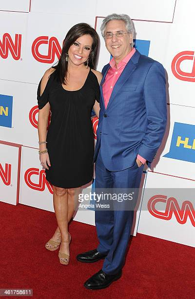 CCN's Robin Meade and Producer Albie Hecht attend the CNN Worldwide AllStar 2014 Winter TCA Party at Langham Hotel on January 10 2014 in Pasadena...