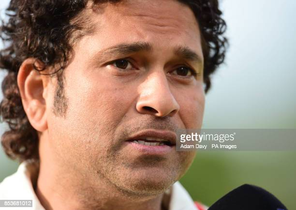 MCC's Sachin Tendulkar after the Lord's Bicentenary match at Lord's Cricket Ground London