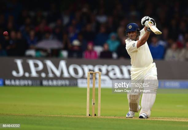 MCC's Sachin Tendulkar during the Lord's Bicentenary match at Lord's Cricket Ground London
