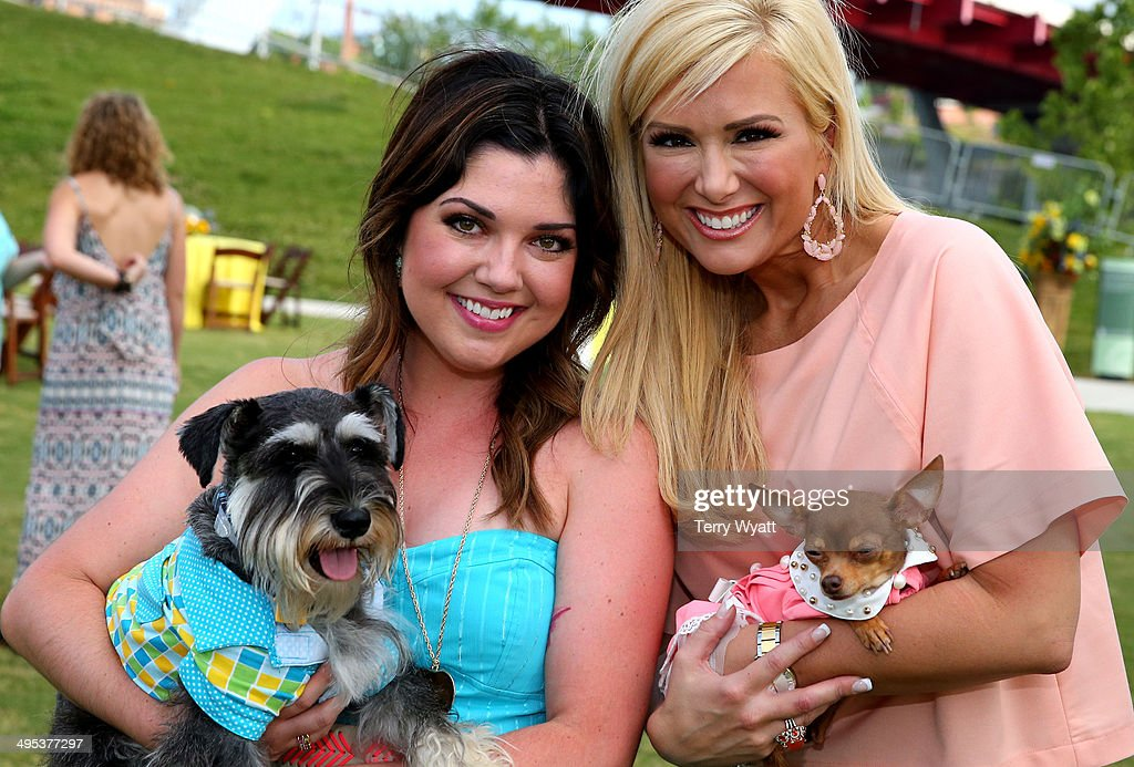 CMT's Samantha Stephens and Allison DeMarcus enjoy the CMT One Country & Dentastix Smile! Party with their pets on June 2, 2014 in Nashville, Tennessee.