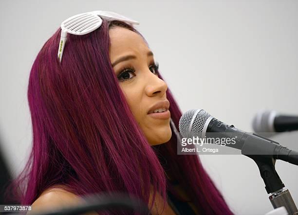 WWE's Sasha Banks on Day 2 of Wizard World Comic Con Philadelphia 2016 held at Pennsylvania Convention Center on June 3 2016 in Philadelphia...