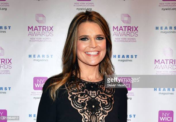 TODAY's Savannah Guthrie attends 2017 Matrix Awards at Sheraton New York Times Square on April 24 2017 in New York City