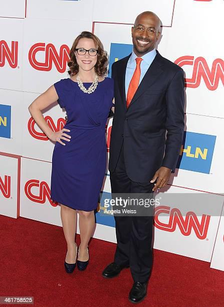 CNN's SE Cupp and Van Jones attend the CNN Worldwide AllStar 2014 Winter TCA Party at Langham Hotel on January 10 2014 in Pasadena California