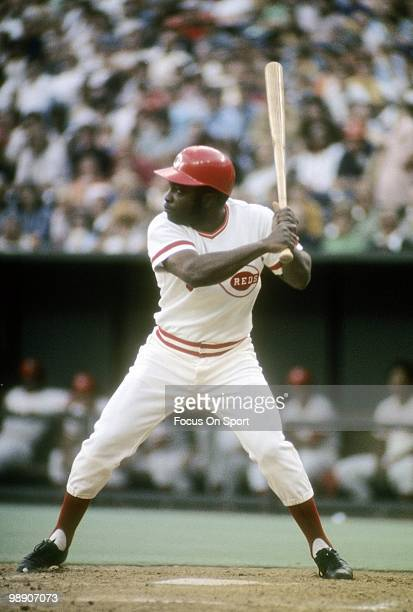 CINCINNATI OH CIRCA 1970's Second baseman Joe Morgan of the Cincinnati Reds ready to swing waiting on the pitch circa mid 1970's during a Major...