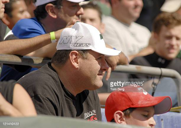 HBO's Series the Soprano's star James Gandolfini in the stands during the Indianapolis Colts vs New York Jets game on October 1 2006 at at the...