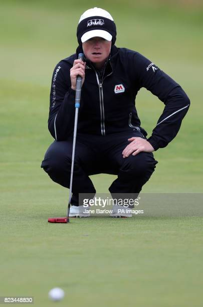USA's Stacy Lewis on the ninth green during day one of the Aberdeen Asset Management Ladies Scottish Open at Dundonald Links North Ayrshire