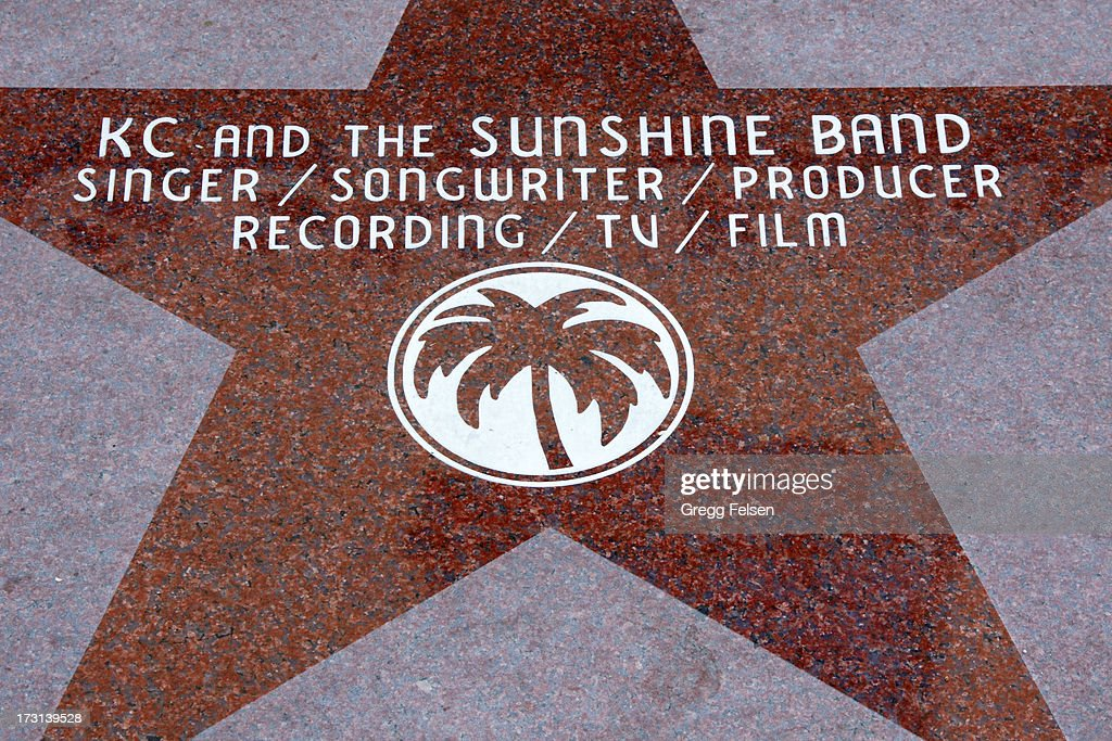 KC's star located at corner of La Plaza & Palm Canyon Drive attends Palm Springs 'Walk of Stars' ceremony for KC And The Sunshine Band on July 6, 2013 in Palm Springs, California.