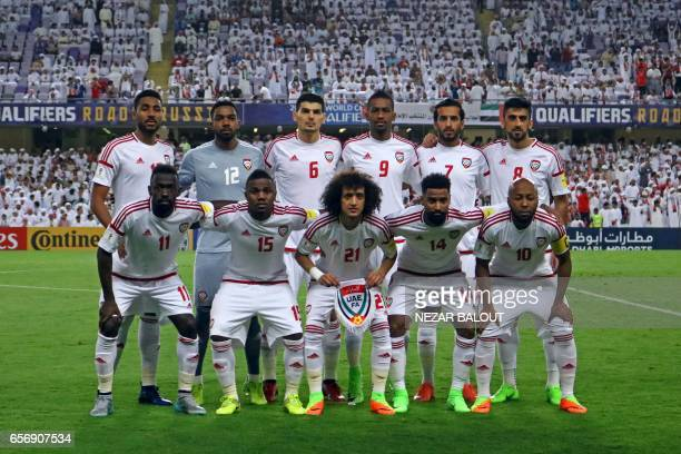 UAE's starting eleven midfielder Khamis Esmaeel goalkeeper Khalid Eisa defender Mohnad Salem defender Abdulaziz Hussain Haikal forward Ali Ahmed...