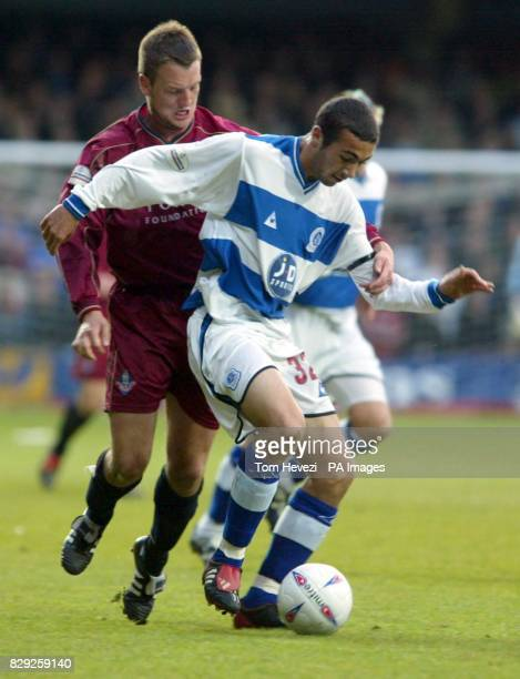 QPR's Stephen Kelly and Oldham's Clint Hill during their Nationwide 2nd Division playoff 2nd leg match at Loftus Road THIS PICTURE CAN ONLY BE USED...