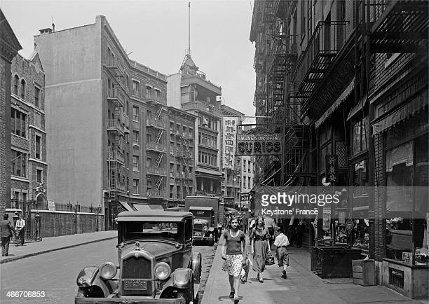 STATES 1930's street view in Chinatown