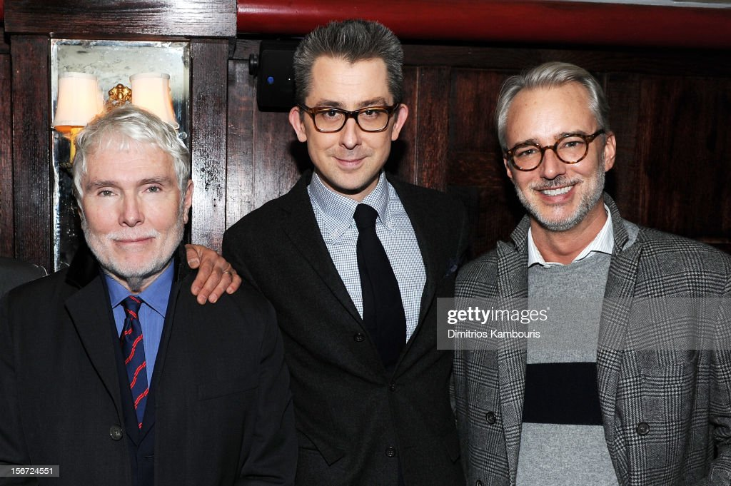 GQ's 'Style Guy' Glenn O'Brien, GQ Deputy Editor Michael Hainey , and fashion designer Michael Bastian attend GQ's The Style Guy party at The Beatrice Inn on November 19, 2012 in New York City.