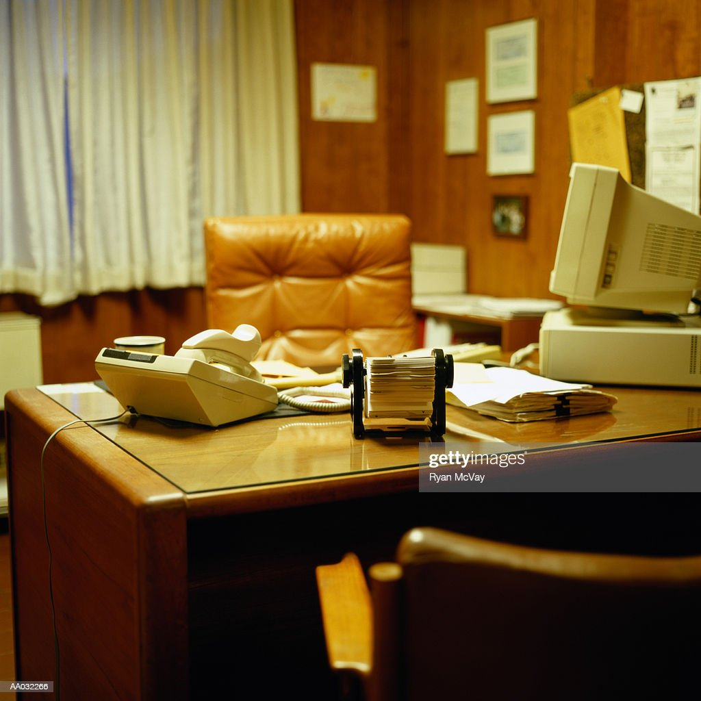 1970's Style Office : Stock Photo