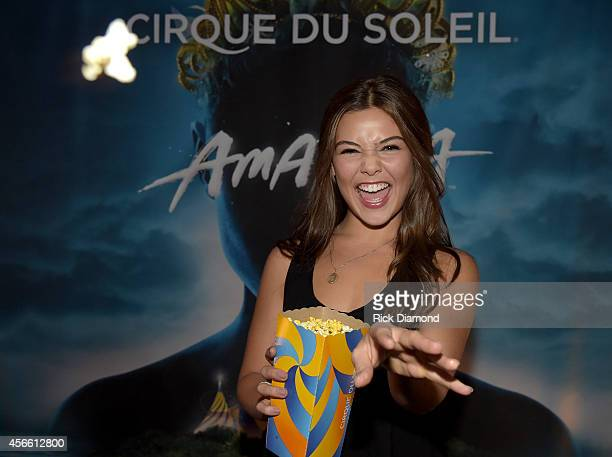 CW's 'The Originals' cast member Danielle Campbell attends Amaluna opening night at the Big Top at Atlantic Station on October 3 2014 in Atlanta...