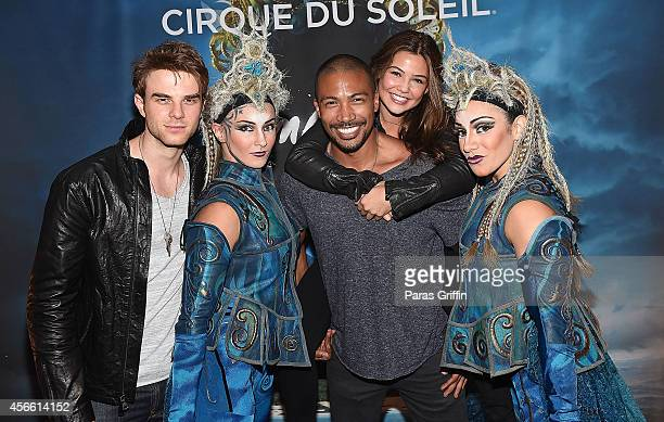 CW's 'The Originals' cast members Nathaniel Buzolic Charles Michael Davis and Danielle Campbell attend the Atlanta premiere night of Cirque Du Soleil...