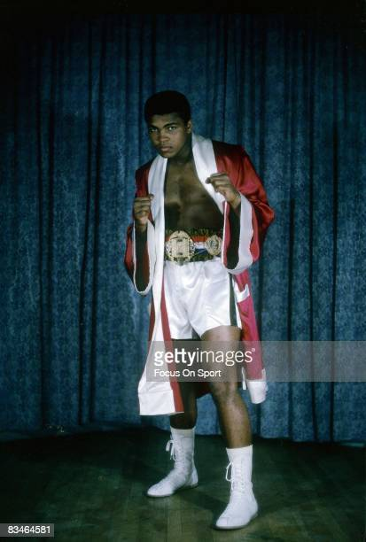 CIRCA 1970's The young Heavyweight Champion Muhammad Ali poses for this photo circa early 1970's