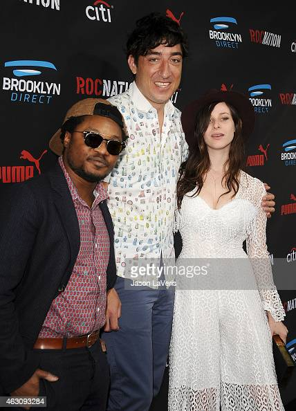 DJ's Theo Spielberg and Sasha Spielberg of Wardell and Ed Droste attend the Roc Nation Grammy brunch on February 7 2015 in Beverly Hills California
