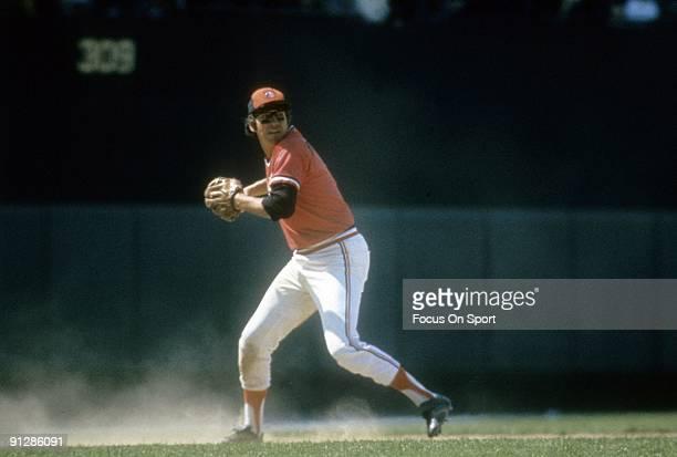 BALTIMORE MD CIRCA 1970's Third baseman Brooks Robinson of the Baltimore Orioles in action sets to make a throw during a circa 1970's Major League...