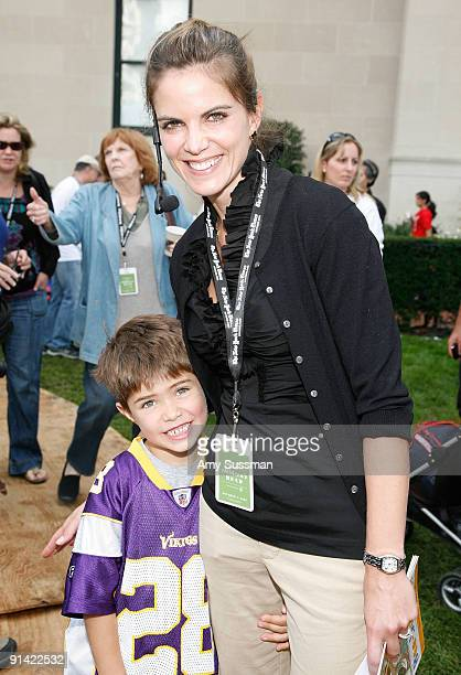 NBC's Today Natalie Morales and her son Josh attend the 3rd Annual New York Times Great Children's Read at Columbia University on October 4 2009 in...