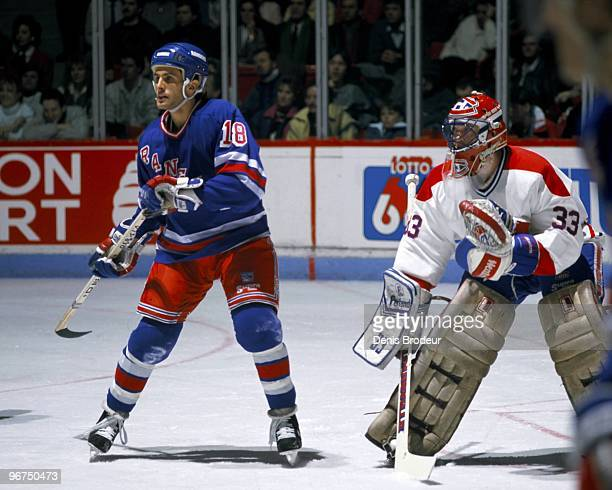 MONTREAL 1980's Tony Granato of the New York Rangers skates against the Montreal Canadiens in the late 1980's at the Montreal Forum in Montreal...
