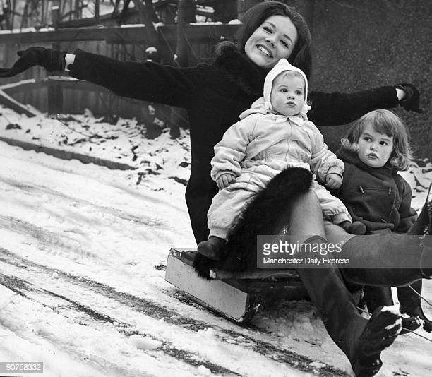 �TV�s toughest female goes sledging with her two youngest fans For the leatherclad judobashing Avengers girl is also an auntie Diana Rigg who is...