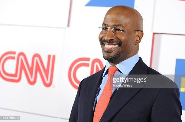 CNN's Van Jones attends the CNN Worldwide AllStar 2014 Winter TCA Party at Langham Hotel on January 10 2014 in Pasadena California