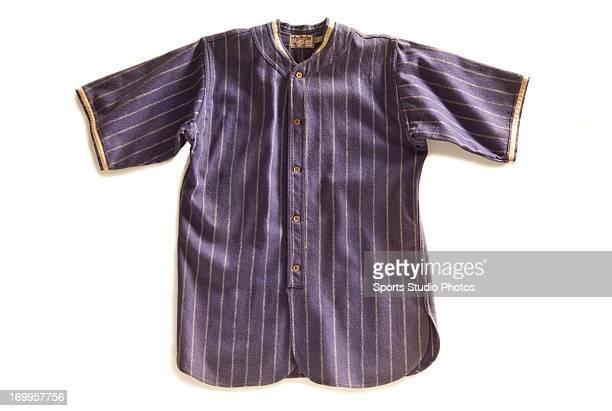 1920's Vintage baseball jersey Earty wool pinstriped baseball jersey