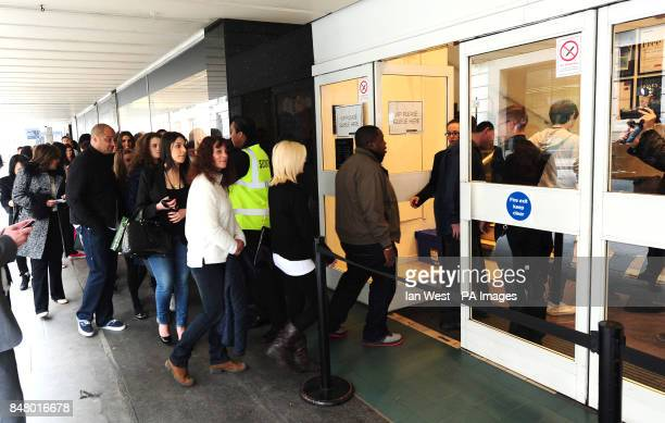 VIP's wait for Kim Kardashian as she launches her new perfume exclusive to Debenhams called True Reflection at a Debenhams in London