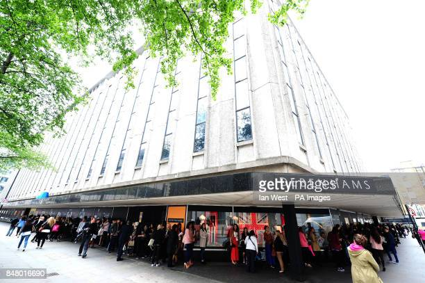150 VIP's wait for Kim Kardashian as she launches her new perfume exclusive to Debenhams called True Reflection at a Debenhams in London