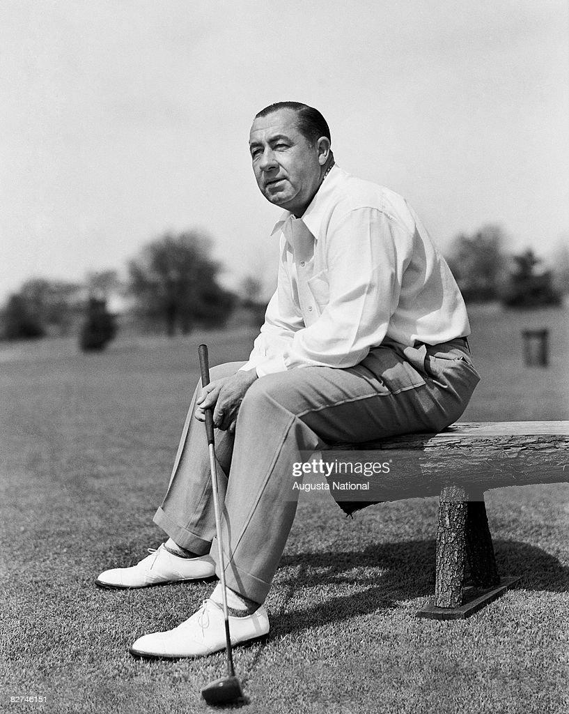 AUGUSTA GA 1940's Walter Hagen during a 1940's Masters Tournament at Augusta National Golf Club in Augusta Georgia
