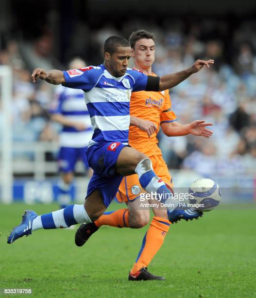 QPR's Wayne Routledge in action during the CocaCola Football Championship match at Loftus Road London