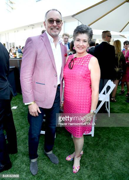 BAFTA's Wayne Watkins and Elizabeth Faulkner attend the BBC America BAFTA Los Angeles TV Tea Party 2017 at The Beverly Hilton Hotel on September 16...