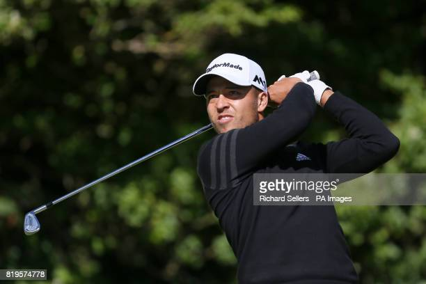 USA's Xander Schauffele tees off the 5th during day one of The Open Championship 2017 at Royal Birkdale Golf Club Southport