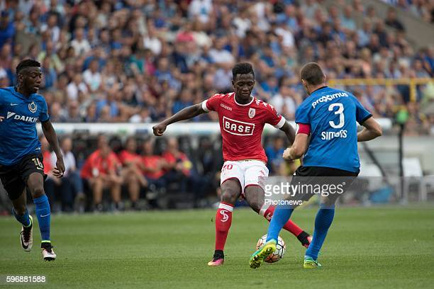 s60 Birama Toure midfielder of Standard Liege b03 Timmy Simons midfielder of Club Brugge during the Jupiler Pro League match between Club Brugge and...