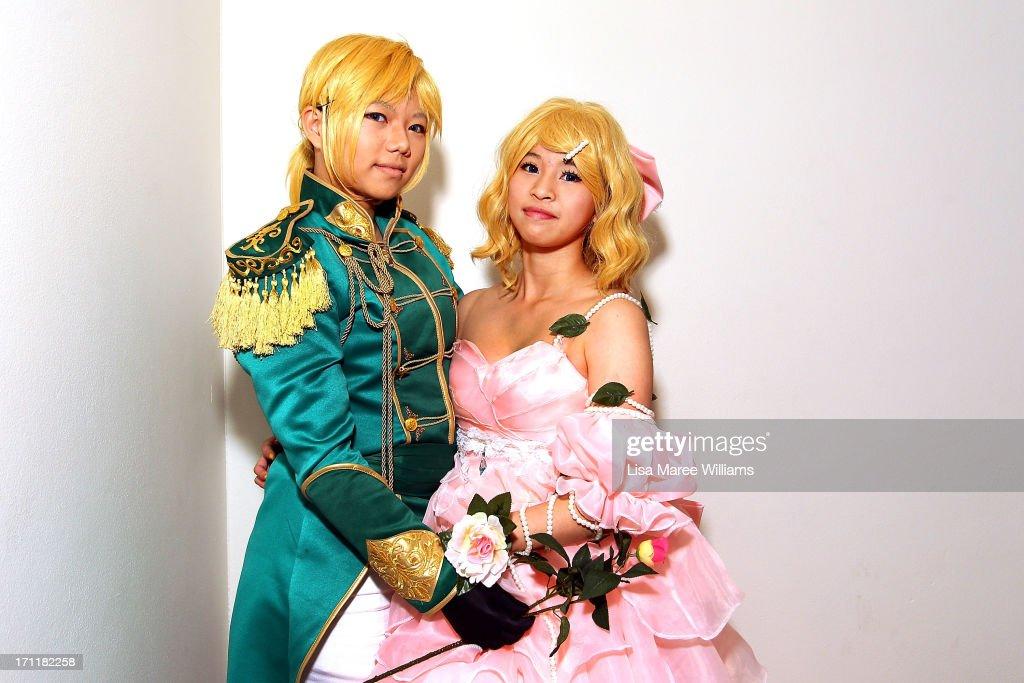 Saabon and Karoru pose in costume during the 2013 Supanova pop culture festival at Sydney Showground on June 23, 2013 in Sydney, Australia.